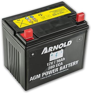 ARNOLD AZ100 - Batería AGM 12 V 16 AH 280 CCA para cortacésped: Amazon.es: Bricolaje y herramientas