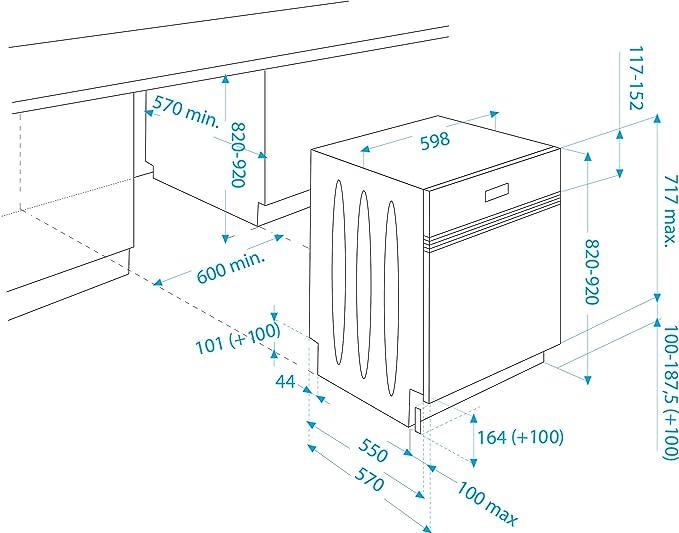 Beko DSN 6634 FX lavavajilla - Lavavajillas (Semi-incorporado ...