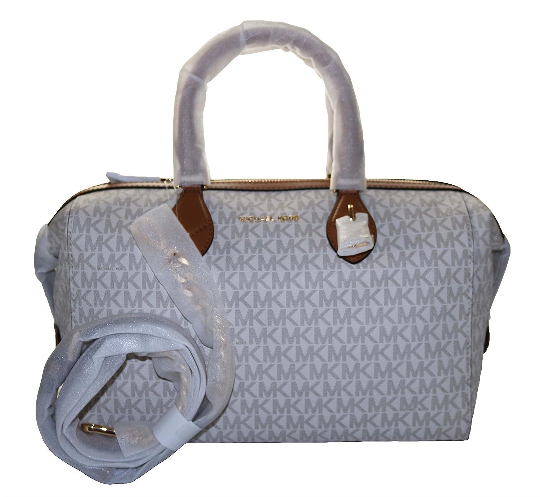 2d028f3704a2d1 Michael Kors Grayson Signature Convertible Satchel, Vanilla: Handbags:  Amazon.com