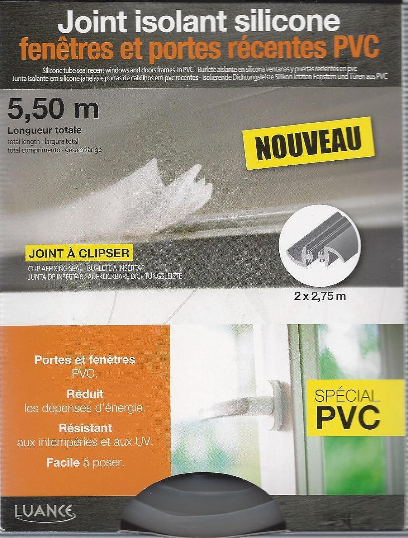 JOINT ISOLANT SILICONE SPECIAL PORTE ET FENETRE PVC LUANCE