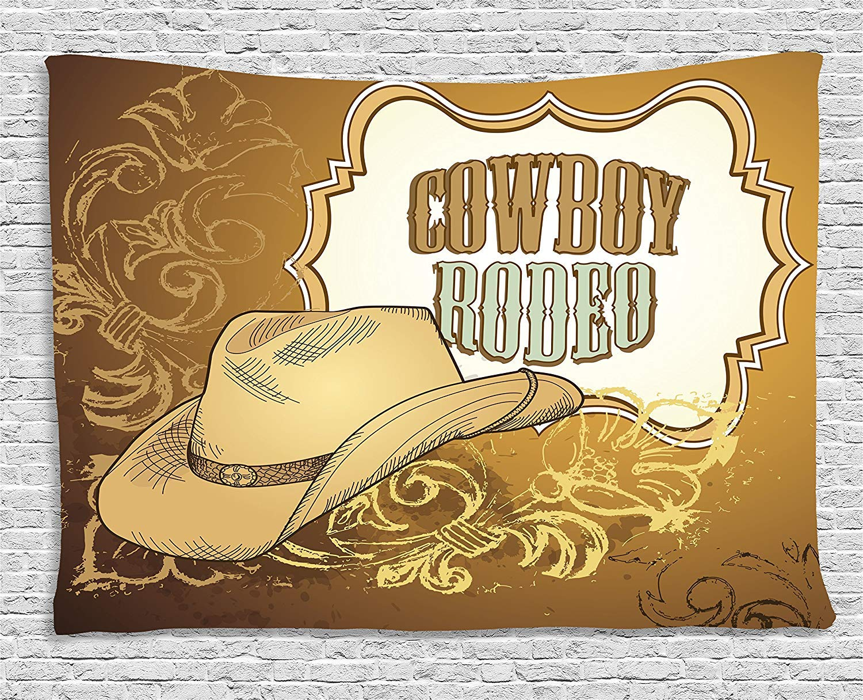 Amazon.com: Western Tapestry Wall Decor Wild West Theme Elements ...