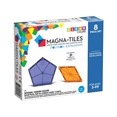 Magna Tiles 8Piece Polygons Expansion Set – The Original, Award-Winning Magnetic Building Tiles – Creativity & Educational – STEM Approved: Toys & Games