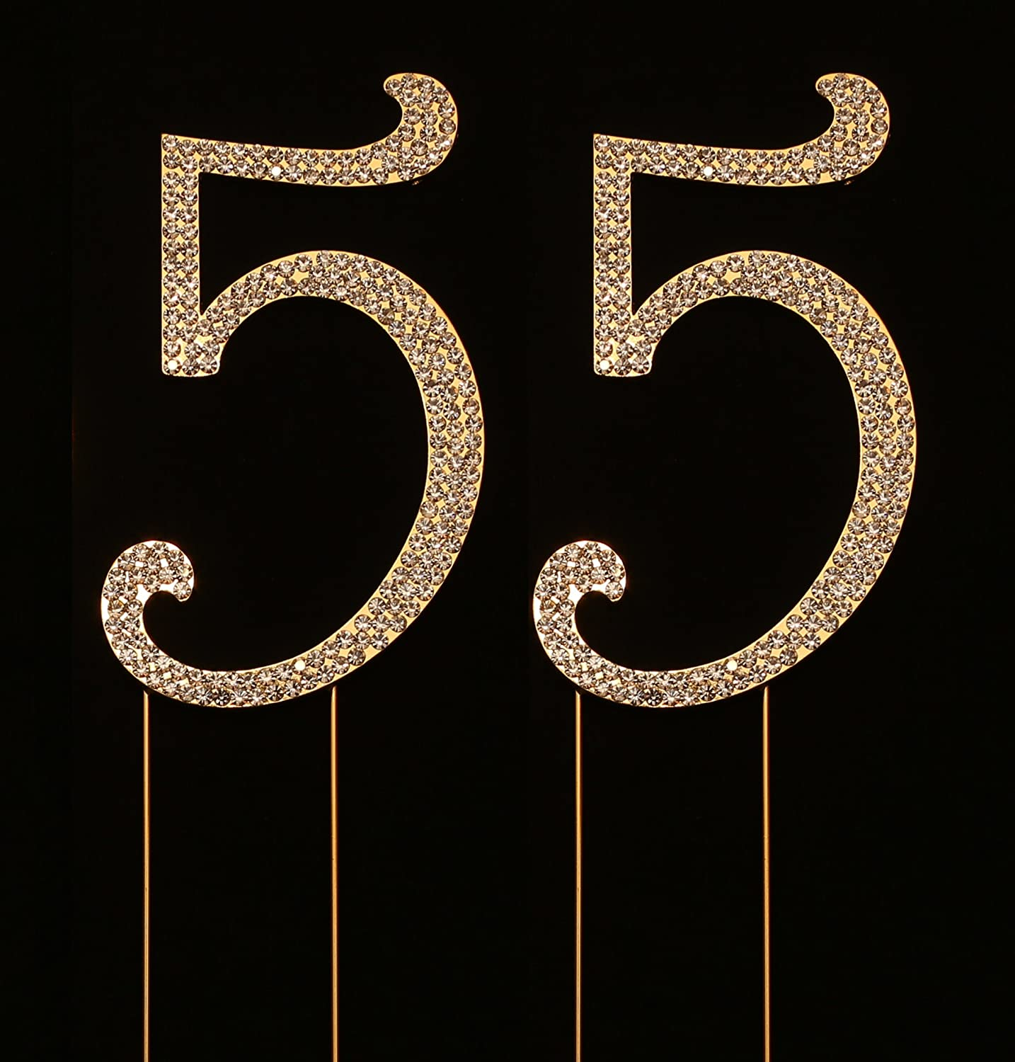 Amazon Number 55 For 55th Birthday Cake Topper Anniversary Party Decorations Joint Gold 45 Inches Tall Kitchen