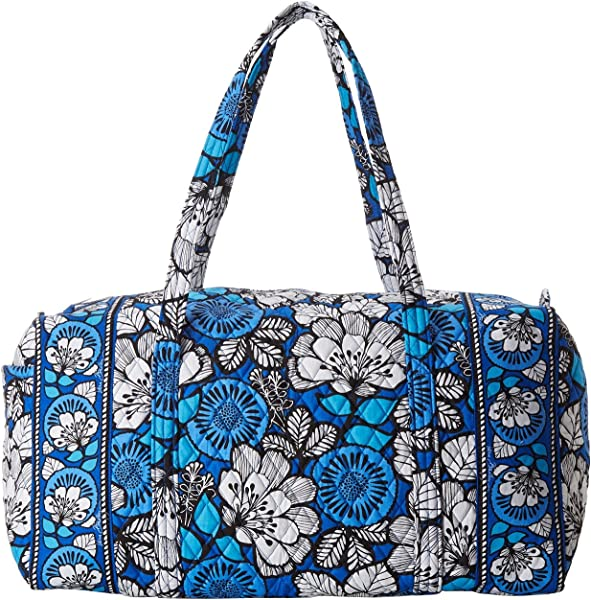 Amazon.com  Vera Bradley Large Duffel in Blue Bayou  Shoes cacec1ddbb