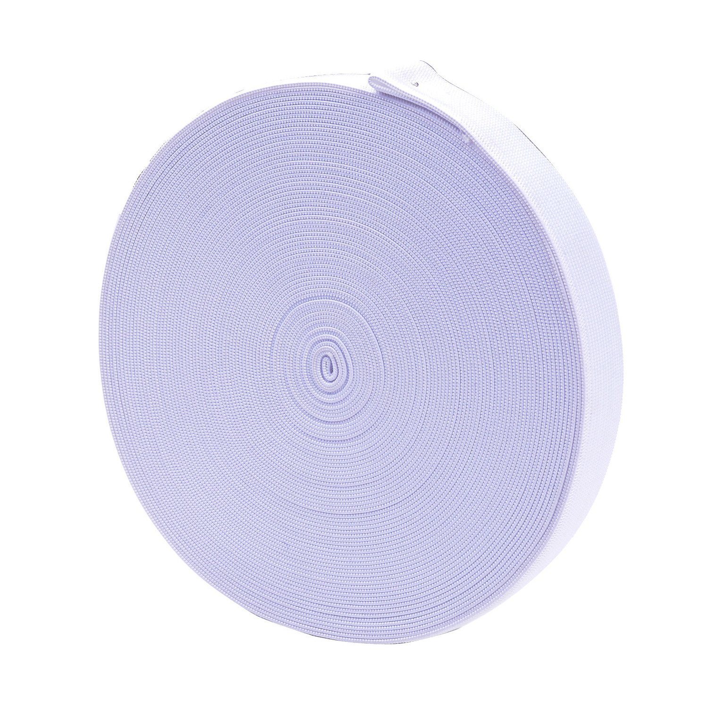 eborder 20 Yard White Sewing Elastic Band Spool(1 Inch)