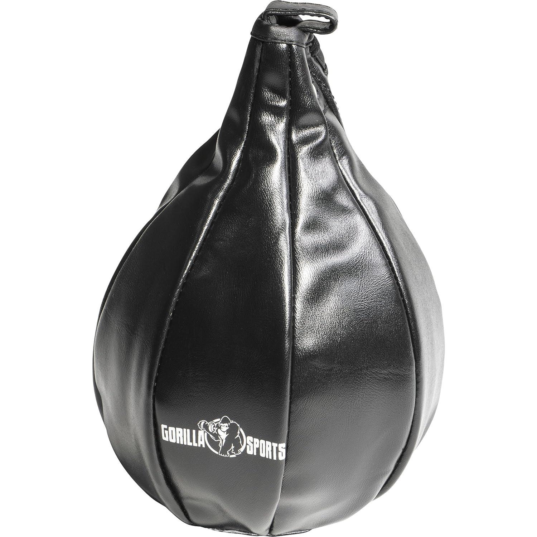 GORILLA SPORTS/® Punchingball aus Kunstleder h/ängend Boxbirne mit 20 cm Durchmesser Schwarz