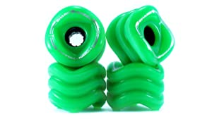 Shark Wheel Sidewinder Longboard Wheels 70mm, 78a - Green