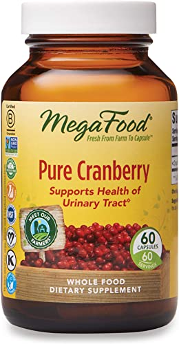 MegaFood, Pure Cranberry, 60 Capsules, Supports Urinary Tract and Immune Health, Whole Food Supplement Vegan, 60 Servings FFP