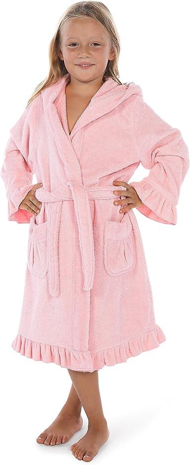Komar Kids Girls Flower Velevet Fleece Robe
