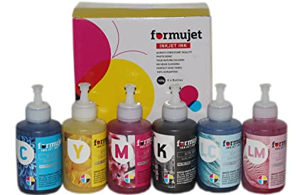 Formujet Sublimation Ink DTP SUB for Epson Printer L800, L1800, L810, L805  and Heat Transfer Printing on Ceramics and Clothes(6 Colours)