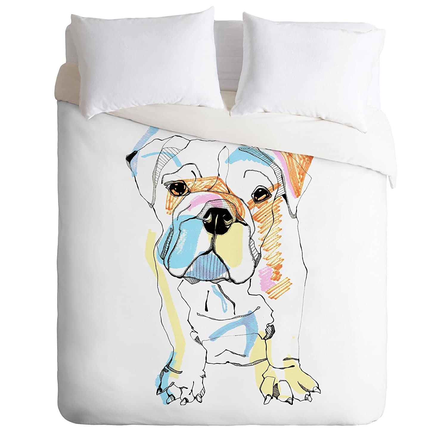 Twin//Twin XL Deny Designs  Casey Rogers Bulldog Color Duvet Cover