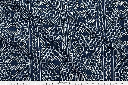 Amazoncom Spoonflower Mudcloth Fabric African Mud Cloth Mudcloth