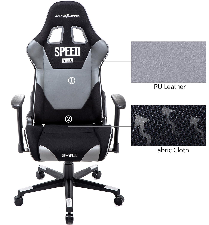 Amazon GTRACING High Back Gaming Chair Fabric And PU Racing