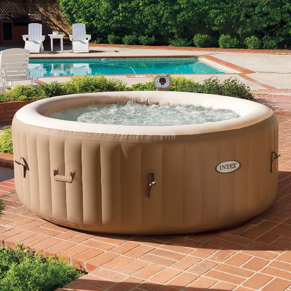 backyard oasis on a dime intex purespa portable hot tub. Black Bedroom Furniture Sets. Home Design Ideas