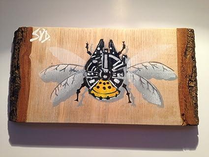 Millenium Falcon Bug Star Wars arte imagen pintura Handsprayed en ceniza firmada por Syd