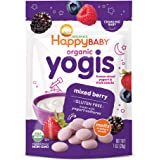 Happy Baby Organic Yogis Freeze-Dried Yogurt & Fruit Snacks Mixed Berry, 1 Ounce Bag (Pack of 8) (Packaging May Vary…