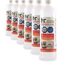 Höfer Chemie 6 x 1 l Bio-ethanol 96,6% premium - TÜV SÜD gecertificeerde kwaliteit - voor ethanol open haard, ethanol…