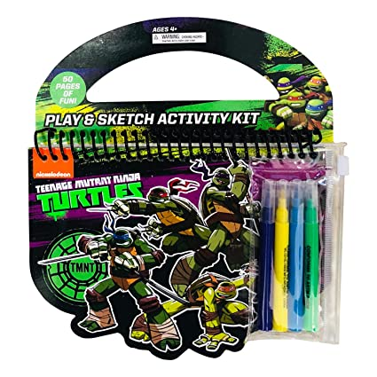Amazon.com: Ninja Turles Complete Play & Sketch Activity Set ...