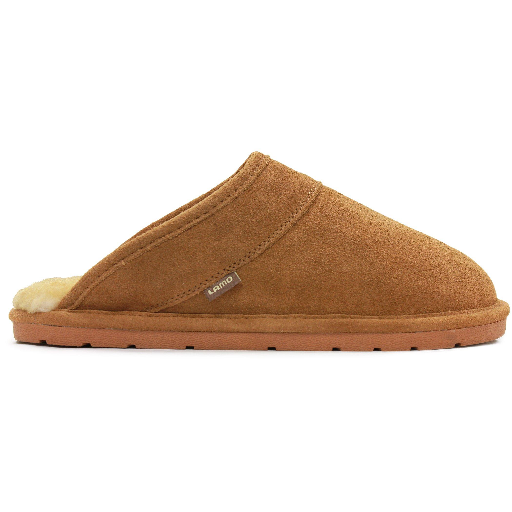 Lamo Men's Romeo Slip-On Loafer, Shoes, Suede, Chestnut, M M US