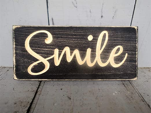 CELYCASY Smile, Cartel de Madera, Inspirador, señal de ...