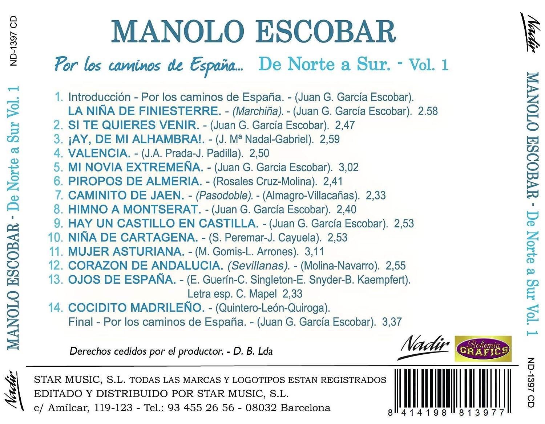 Por los caminos de España: De Norte a Sur - Volumen 1: Manolo Escobar, Manolo Escobar: Amazon.es: Música