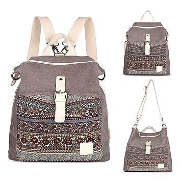 929bc10853a5 LAOMAUTO Backpack Women Purse Girls Canvas ... - Amazon.com