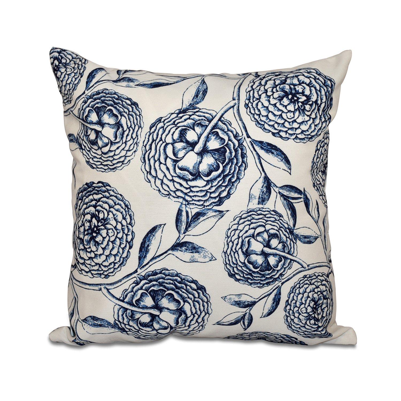 E by design O5PFN493GR18GR19-16 16 X 16 Antique Flowers Floral Green Outdoor Pillow