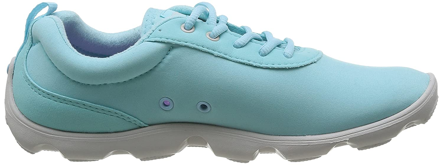 Crocs Womens Duet Busy Day Lace up Shoes B00Q8NOTQE 7 M US|Ice Blue / Pearl White