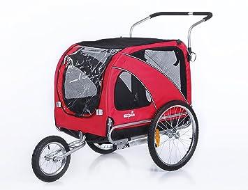 sepnine 2 in1 grande mascota perro bicicleta remolque remolque para bicicleta y cochecito Jogger 10202: Amazon.es: Productos para mascotas