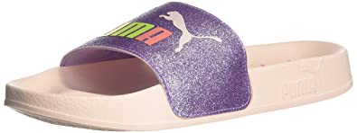f134a1dbf163 PUMA Kids Girl s Leadcat Glitz (Big Kid) Purple Rose Pearl 5 M US