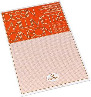 CANSON Millimeterpapier A4 75g//qm blau Skizzenpapier Zeichenpapier 12 Blatt