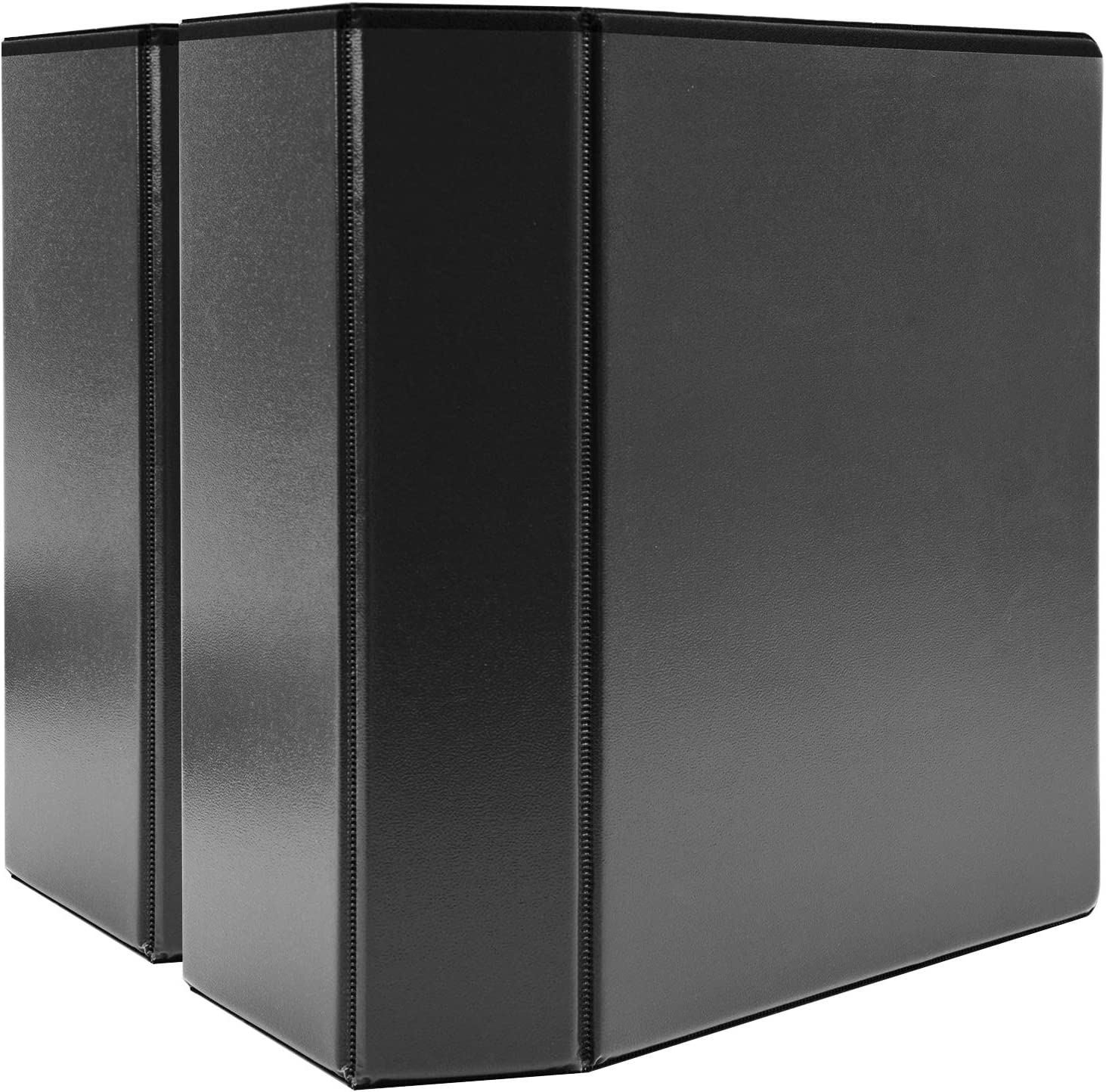 "AmazonBasics 5"" Heavy-Duty View 3 Ring Binder, Black, 2/Pack"