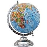 "Rotating Desktop Blue Ocean Globe World Geography Earth Table Decor 12"""