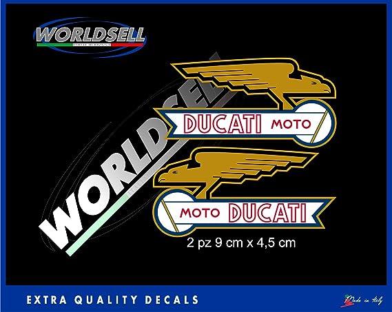 Pegatinas Stickers Ducati Moto Old Cafe Racer mecánica Corse Sport Classic SS: Amazon.es: Juguetes y juegos