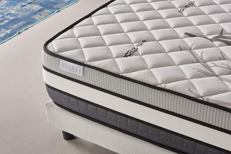 COSMOS | Solar | Colchón 135x190 Cm Viscoelástico Multicapa | Excelente Soporte 30 Cm | Máximo Confort | Núcleo con Extraordinaria Características ...