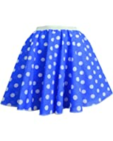 """Childrens Polka Dot Skirt Rock n Roll 50's/ 60's Style with neck tie 17 different colours 12"""" length"""