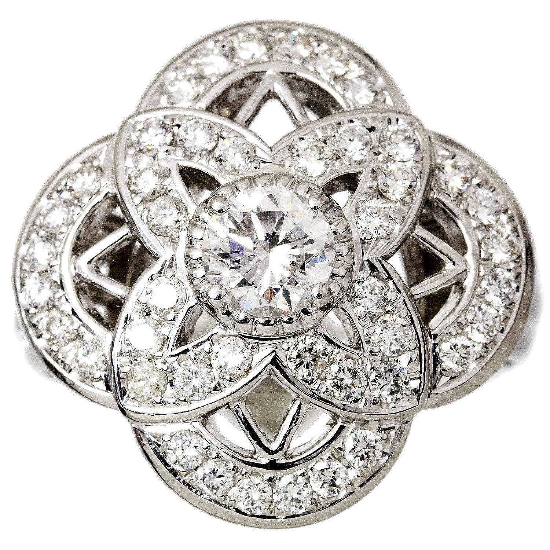 ダイヤ 0.534ct E/SI-2/GOOD ダイヤ 0.67ct Pt プラチナ リング 12号 ダイア 指輪 【ソーティング付き】【中古】 90047086 B07C3LPD13