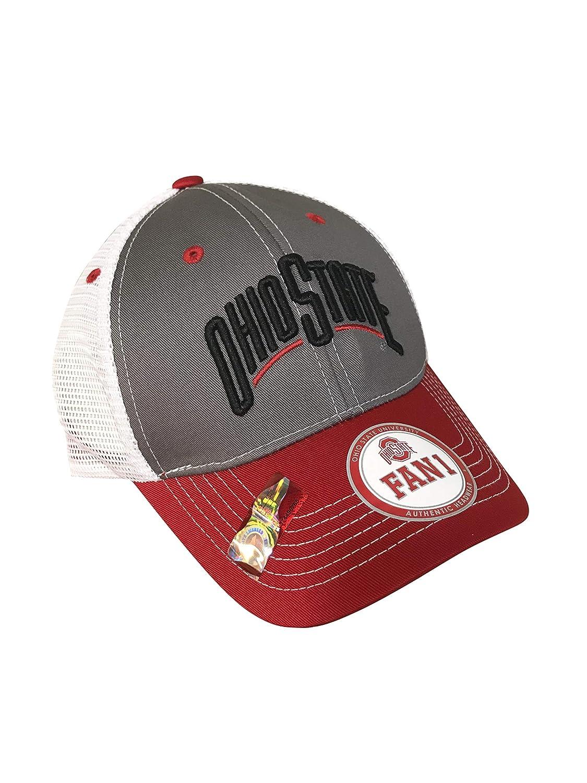 1bb2481bc0c Amazon.com   FAN 1 Ohio State University Buckeyes Mesh Cap Hat - Snapback    Sports   Outdoors