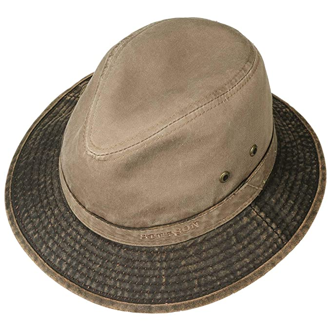 7bd7ebac8f1 Stetson UV Protection Cotton Hat Sun (XL (60-61 cm) - Dark Beige)  Amazon.co .uk  Clothing