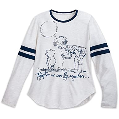 9477afee Disney Christopher Robin and Winnie The Pooh Long Sleeve Shirt for Women  Size Ladies 2XL Multi