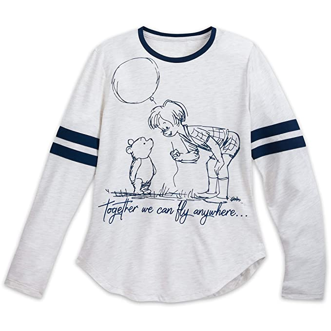 Disney Christopher Robin and Winnie The Pooh Long Sleeve Shirt for Women  Size Ladies 2XL Multi 950a82ca68