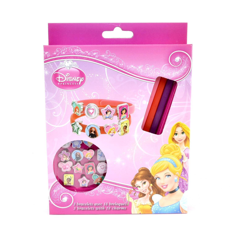 plus récent nouvelle version promotion DISNEY Princesse 3 bracelets avec 18 breloques: Amazon.fr ...