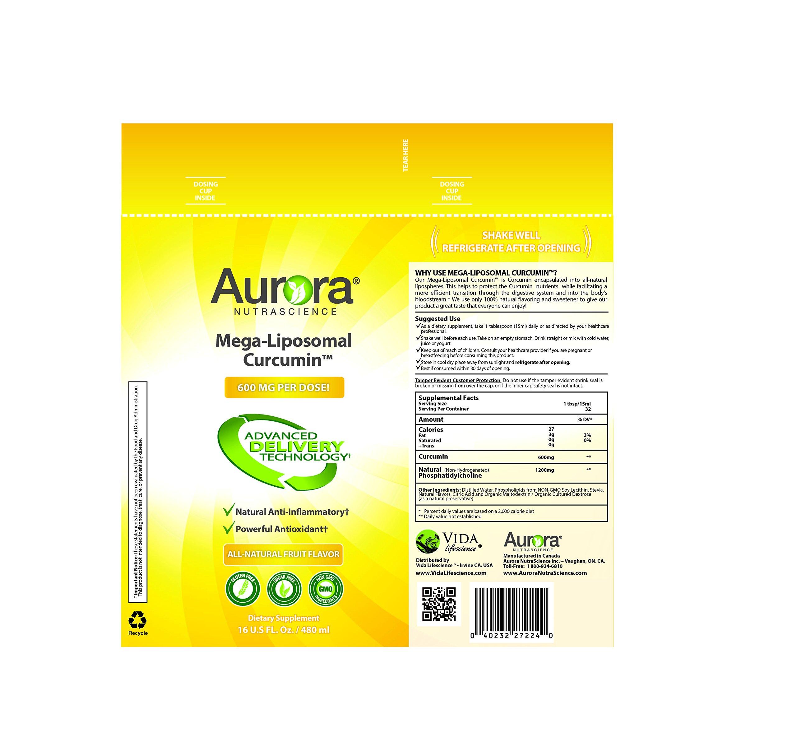Aurora Nutrascience Mega-Liposomal Curcumin 16 oz