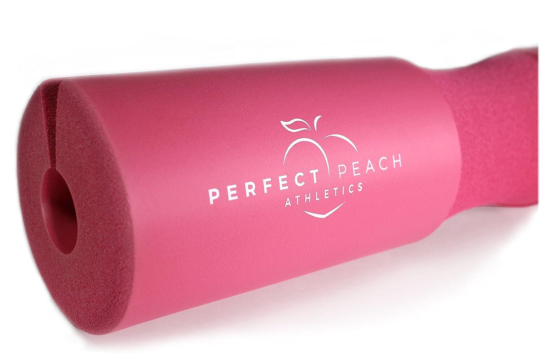 Perfect Peach Athletics Sentadilla con la barra de la barra del cojí n - cadera hé lice espuma sentadilla barra almohadilla de cuello para equipos de levantamiento de pesas de mujeres