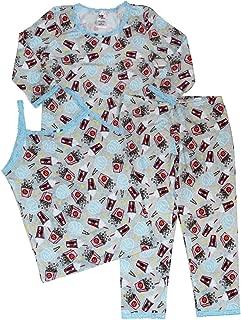 product image for Esme Girl's 3 Piece All Season Sleepwear Camisole & 3/4 Long Sleeve Top Leggings Set