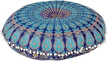 Amazon.com: Aakarshan - Funda de cojín para asiento de suelo ...
