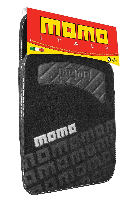 MoMo CM008BG Tapis MOQ, Noir/Gris