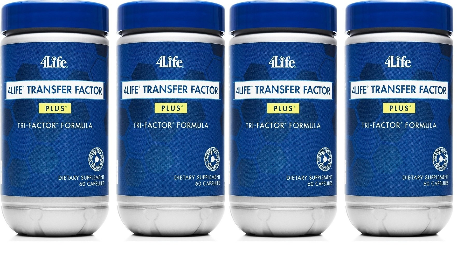 x 4 Transfer Factor Plus Tri-Factor Quad - 4Life Foundation by 4Life Research