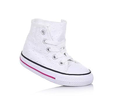 Lacets À En Motif Brodé Tissu Blanche De Sneaker Avec Converse q7na6a