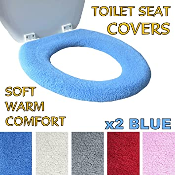 Medipaq® Luxury Toilet Seat Cover   Super Warm Fleece   Metal Retaining  Ring   CHOOSE